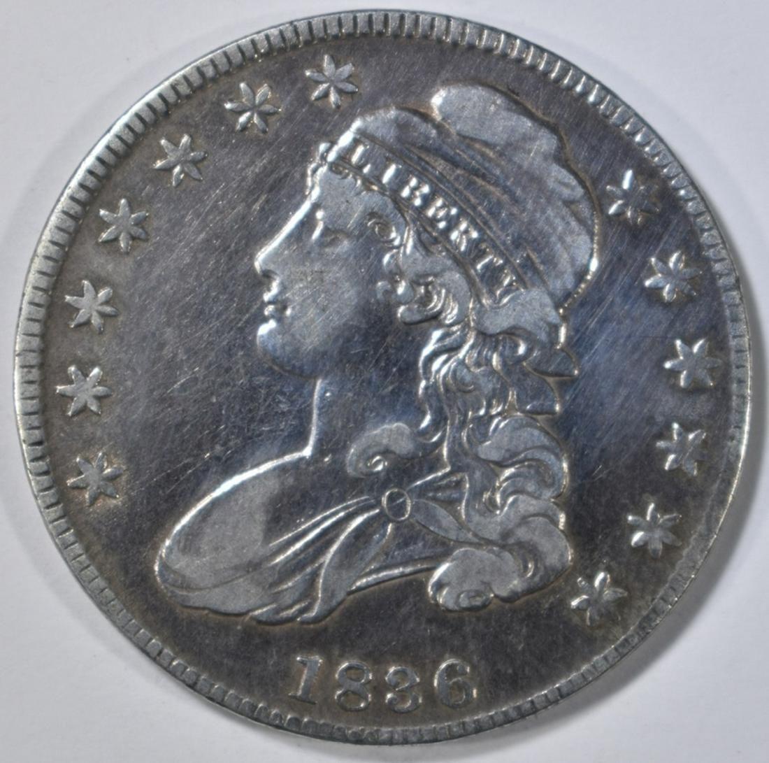 1836 BUST HALF DOLLAR XF