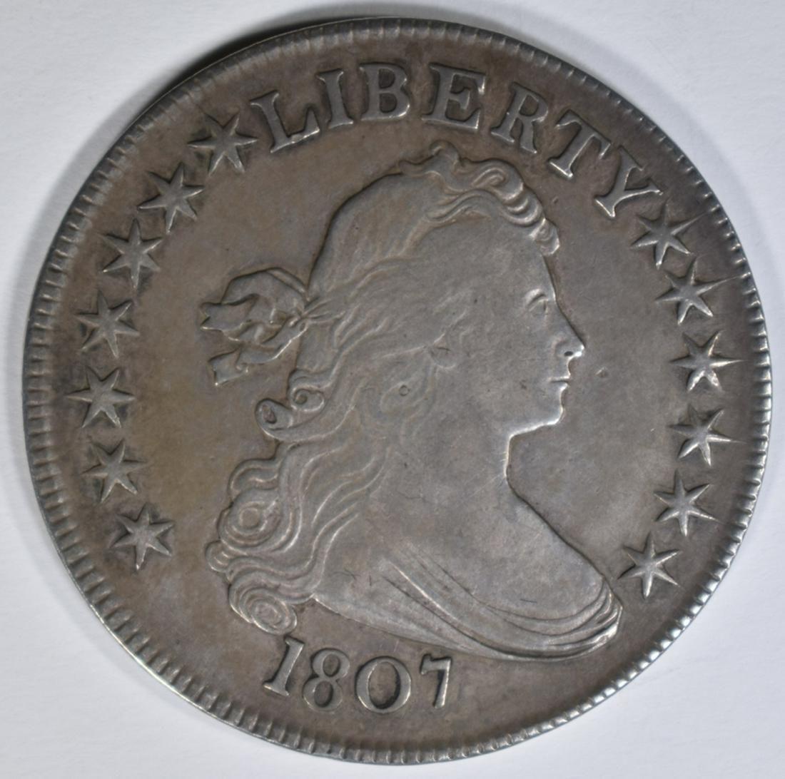 1807 DRAPED BUST HALF DOLLAR XF