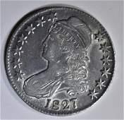 1827 BUST HALF DOLLAR AU