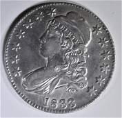 1833 BUST HALF DOLLAR CH AU