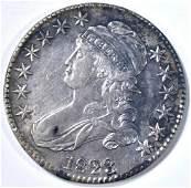 1823 BUST HALF DOLLAR AU