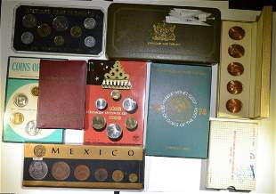 LOT OF 9 FOREIGN MINT SETS