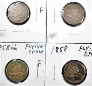 LOT OF 1858 FLYING EAGLE CENTS