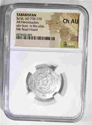 AD 776-779 SA'ID AR HEMIDRACHM NGC CH AU