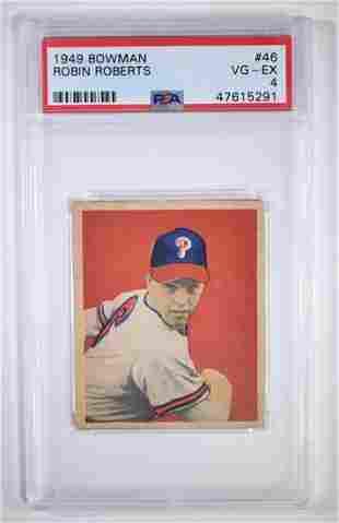 1949 BOWMAN ROBIN ROBERTS #46 BASEBALL CARD