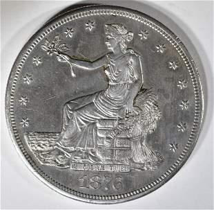 1876-CC TRADE DOLLAR  AU/BU