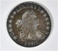 1805 BUST HALF DOLLAR AU