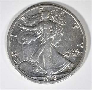 1916-S WALKING LIBERTY HALF DOLLAR AU