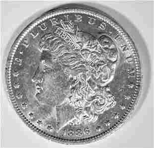 1886-O MORGAN DOLLAR  BU  OLD CLEANING