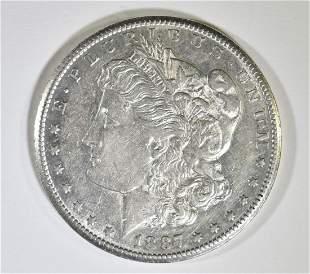 1887-S MORGAN DOLLAR  CH AU