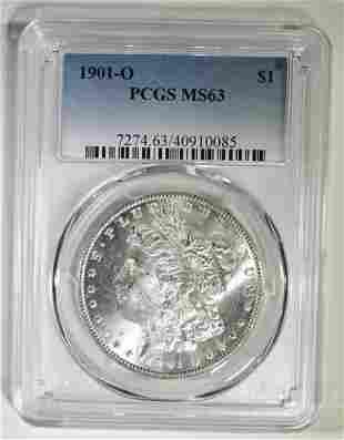 1901-O MORGAN DOLLAR PCGS MS-63