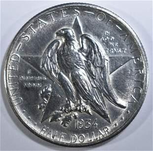 1934 TEXAS COMMEM HALF AU