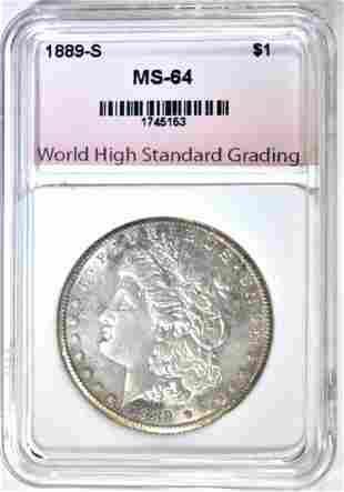 1889-S MORGAN DOLLAR WHSG CH/GEM BU