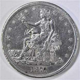 1877 TRADE DOLLAR W/COUNTERMARKS