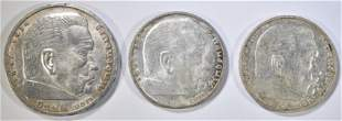 LOT OF 3 GERMAN WWII THIRD REICH COINS