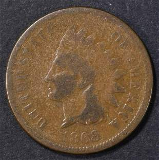 1868 INDIAN CENT VG