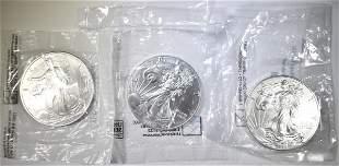 2003, 2014, 2016 UNC AMERICAN SILVER EAGLES