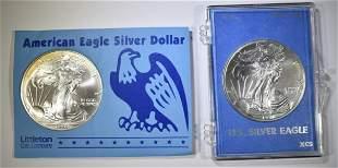 1997 & 98 BU AMERICAN SILVER EAGLES