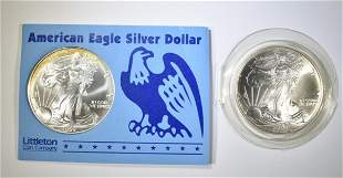1999 & 2000 BU AMERICAN SILVER EAGLES