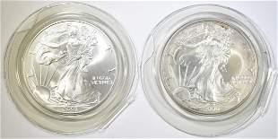 2000 & 2001 BU AMERICAN SILVER EAGLES