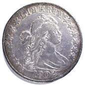 1802 BUST HALF DOLLAR, XF