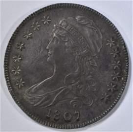 1807 BUST HALF DOLLAR  SM STARS, NICE ORIG UNC
