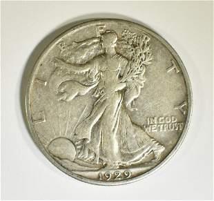 1929-S WALKING LIBERTY HALF DOLLAR XF+