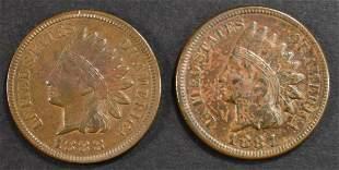1887 & 1888 INDIAN HEAD CENTS AU