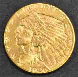 1926 $2.5 GOLD INDIAN GEM BU