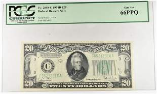 1934-D $20 FEDERAL RESERVE NOTE PCGS 66 PPQ