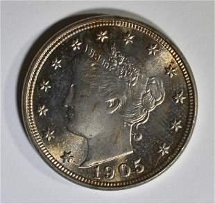 1905 LIBERTY NICKEL GEM BU
