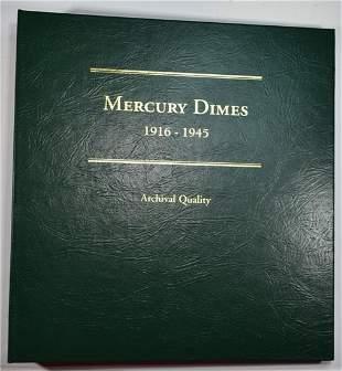 MERCURY DIME ALBUM 77 TOTAL COINS