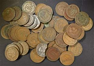 55 MIXED DATE INDIAN HEAD CENTS