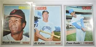 3 1970 TOPPS BASEBALL CARDS