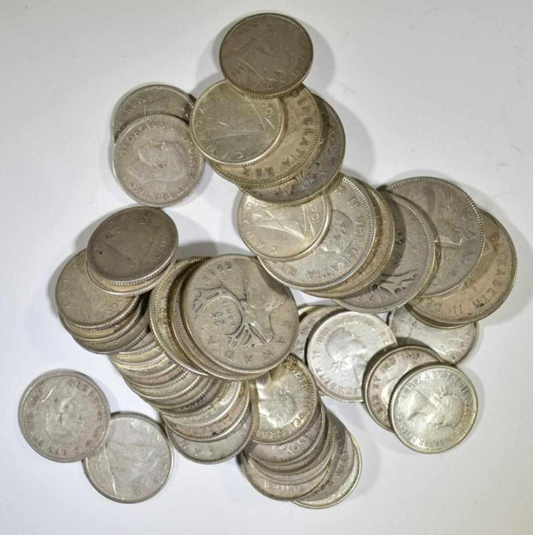 $6.40 FACE VALUE CANADIAN SILVER COINS