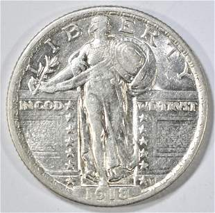 1918 STANDING LIBERTY QUARTER CH AU
