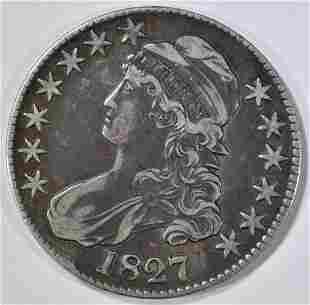 1827 BUST HALF DOLLAR XF/AU