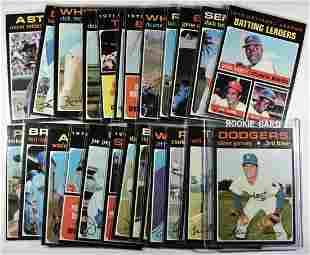 25 1971 TOPPS BASEBALL CARDS NM+
