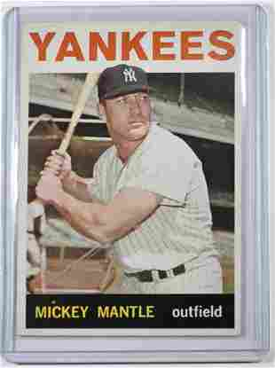 1964 TOPPS MICKEY MANTLE #50 XT