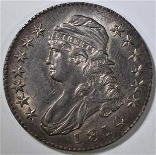 1814 BUST HALF DOLLAR AU/BU