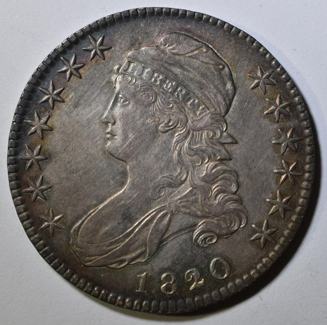 1820/19 BUST HALF DOLLAR AU