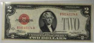 1928 C $2.00 U.S. NOTE RED SEAL