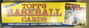 1986 TOPPS BASEBALL COMPLETE SET SEALED