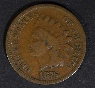 1876 INDIAN CENT VG