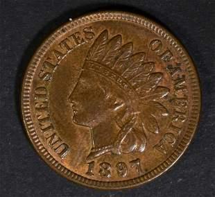 1897 INDIAN HEAD CENT GEM BU BN
