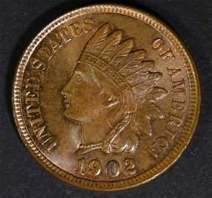 1902 INDIAN HEAD CENT GEM BU RB