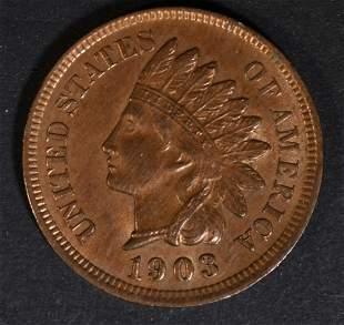 1903 INDIAN HEAD CENT CH BU RB