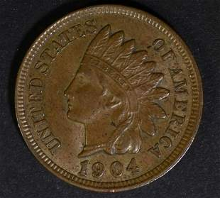 1904 INDIAN HEAD CENT CH BU BN