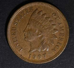 1907 INDIAN HEAD CENT CH BU BN