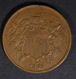 1865 2-CENT PIECE XF